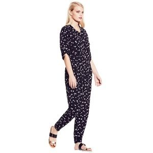 Vince Camuto black & white patterned jumpsuit M
